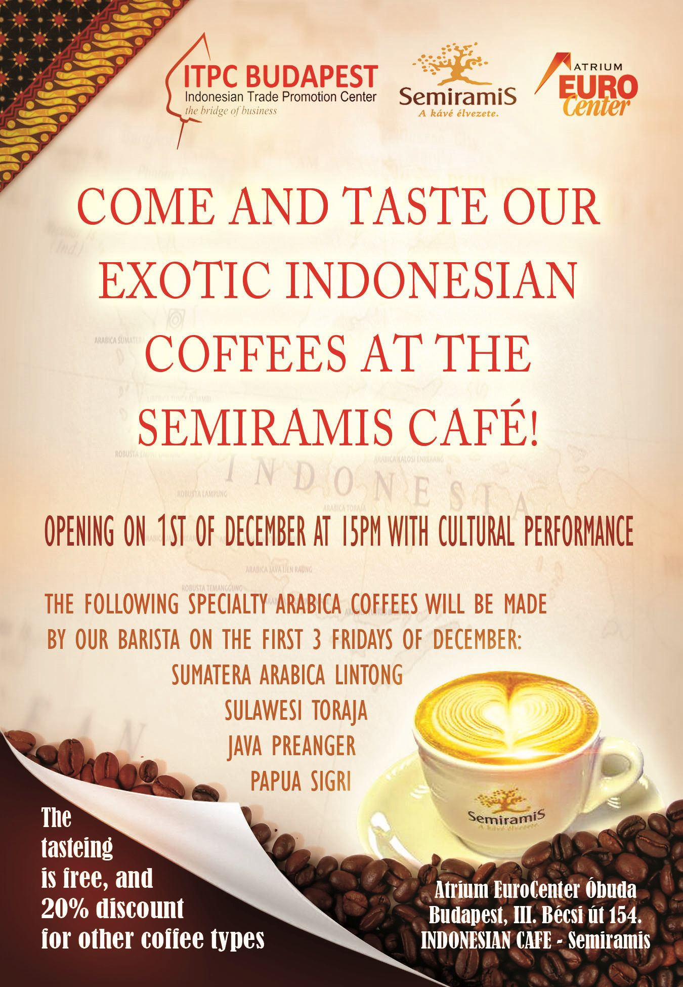 Indonesian Cafe in the Eurocenter