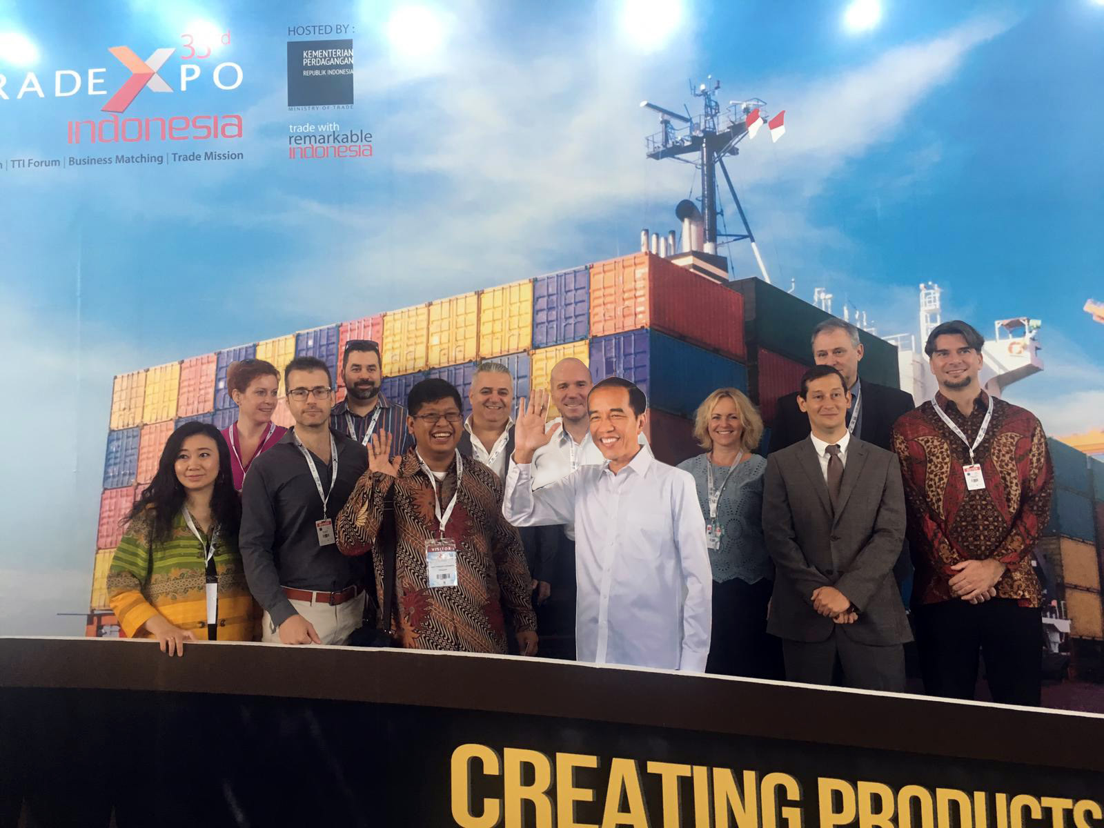 Business delegation escorted by ITPC Budapest to the Trade Expo 2018 Indonesia